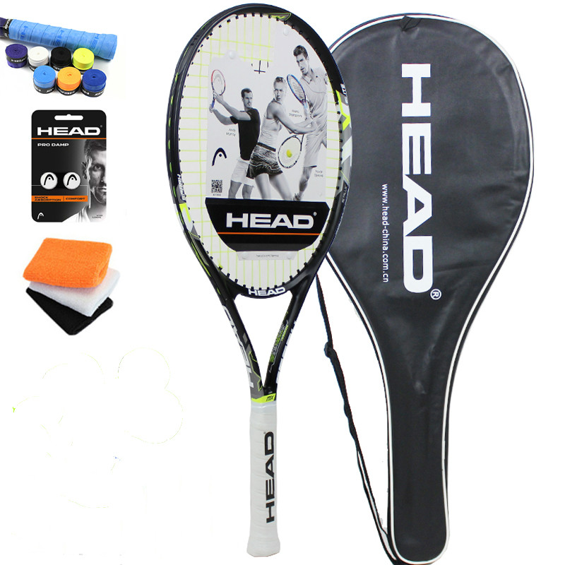 Head tennis racket Tenis Masculino Tenis Raketi high quality carbon composite Raquete De Tenis with strung