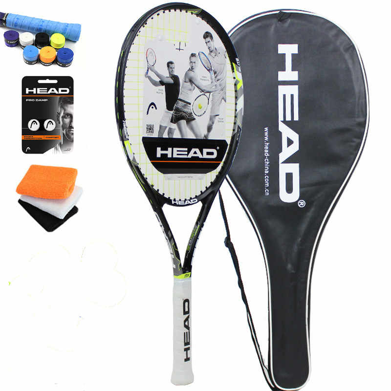 Head tennis racket Tenis Masculino Tenis Raketi high quality carbon composite  Raquete De Tenis with strung for young Bracers