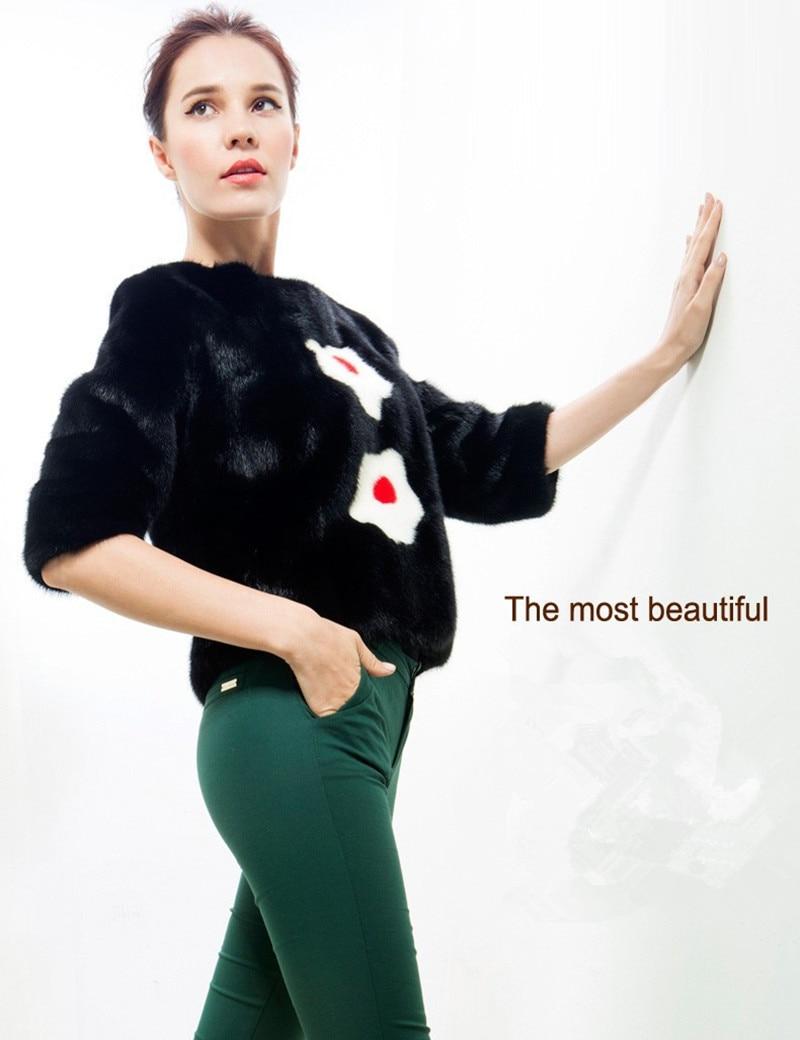 Pullover Mink Fur 100 Real Vitality Flower Shape Spring Autumn Slim Stylish Popular font b Women