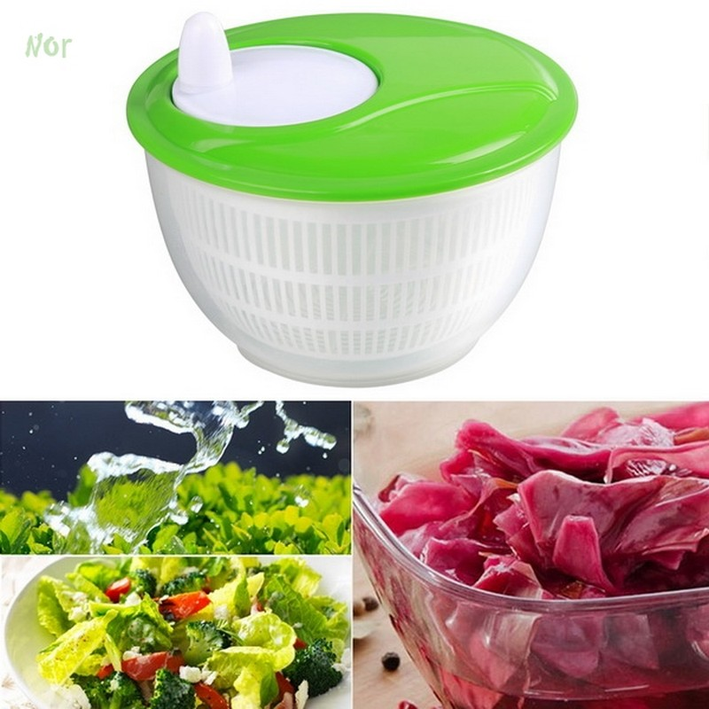 New Mini Kitchen Salad Spinner Dry Strain Herbs Lettuce Vegetables Washer Drainer 4 5 Liter Plastic