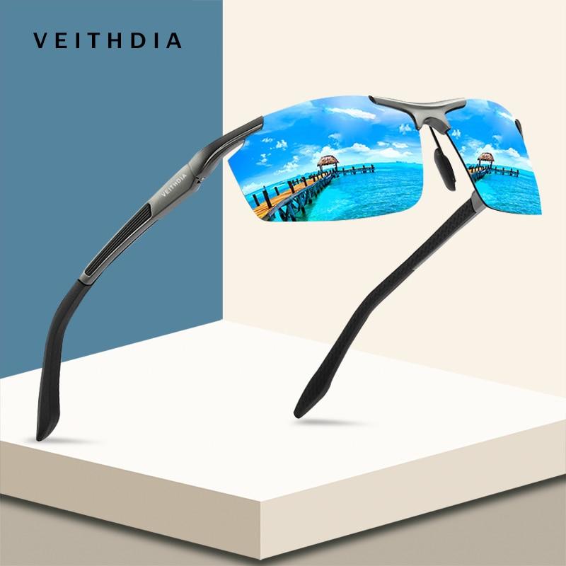 VEITHDIA Alumínio Magnésio Esporte Óculos De Sol Dos Homens Polarizados Revestimento Espelho de Condução Óculos de Sol oculos Masculinos Acessórios de Óculos