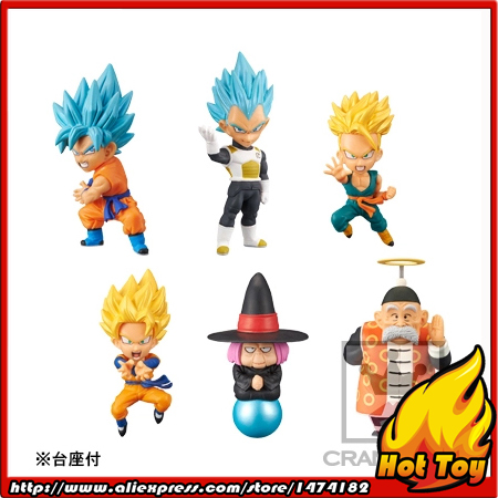 100% Original Banpresto WCF Complete Collection Figure  Vol.3 - Full Set of 6 Pieces from Dragon Ball SUPER crusade vol 3 the master of machines