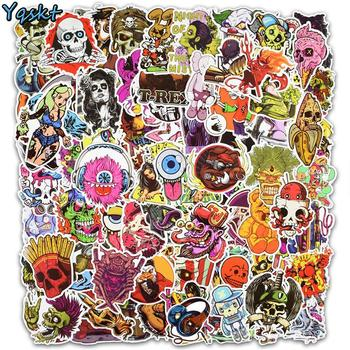 100 Pcs Horror Cool Stickers for Skateboard Motorcycle Car Styling Laptop Fridge Luggage Bicycle Graffiti PVC Waterproof Sticker - discount item  21% OFF Classic Toys