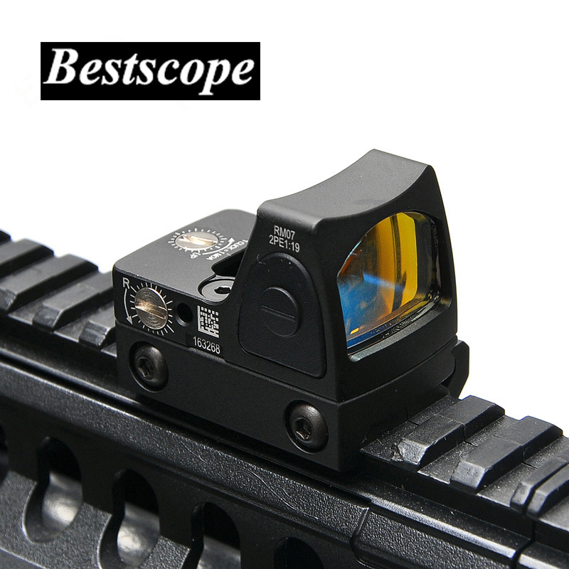 Mini RMR Red Dot Sight collimador Glock/Rifle Reflex vista alcance ajuste 20mm carril del tejedor de Airsoft/ rifle de caza