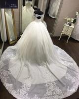 Vestido de Noiva Off The Shoulder Lace Wedding Dress Ball Gown Long Sleeves Appliques Open Back Sexy Bride Dress