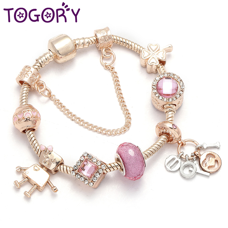 Bella Crystal Ring Chandelier: TOGORY Fashion Little Bella Pandora Bracelet DIY Crystal