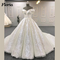 Sparkly African Evening Dresses For Weddings 2018 Dubai Turkish Arabic Engagement Dress Glitter Formal Prom Gowns Robe de soiree