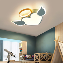 LICAN Modern LED Ceiling Lights for Baby boys Girls Bedroom Cartoon Angel Pink Blue ceiling lamp children study room