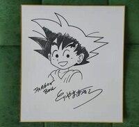 hand drawn Toriyama Akira autographed Shikishi Card Art Board Dragon Bll 032019B