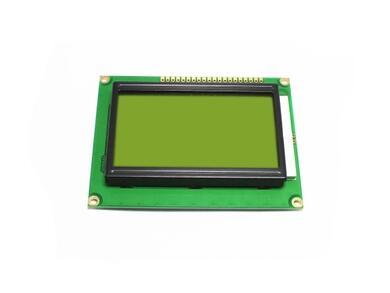 Free shipping 10pcs LCD 12864 128x64 Dots Graphic Yellow Green Color Backlight LCD Display Shield 5.0V Connector