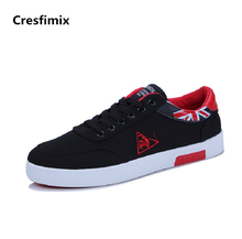 Cresfimix man fashion high quality street stylish canvas shoes male cool spring & autumn plus size lace up shoes zapatos hombre