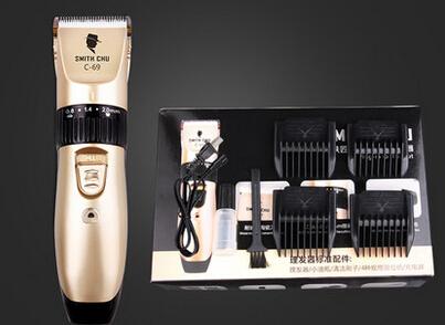 Envío gratis nueva Electric Man bebé pelo Clipper Trimmer Razor máquina de afeitar recargable impermeable sin cuerda ajustable