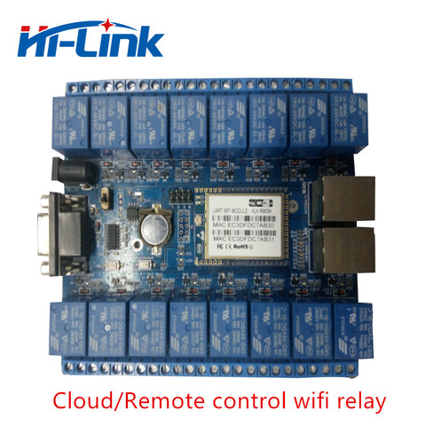 Free shippping HLK-SW16 16 Channel Remote Control Relay smart home things of internet RS232 RJ45 port P2P WIFI relay board Pakistan