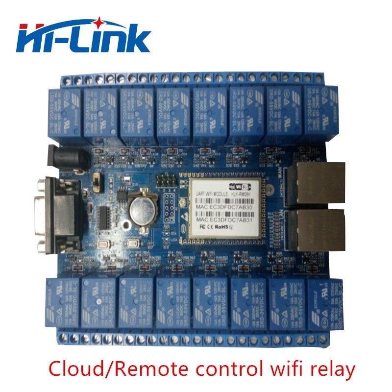 Livraison gratuite HLK-SW16 16 canaux télécommande relais maison intelligente choses d'internet RS232 RJ45 port P2P WIFI carte relais