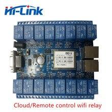無料shippping HLK SW16K 16 チャンネルリモートコントロールリレースマートホームのものインターネットRS232 RJ45 ポートP2P wifiリレーボード