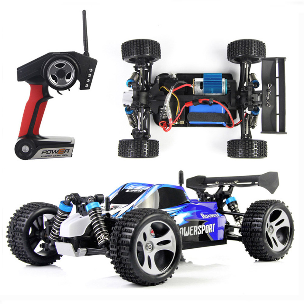 WLtoys A959 High Speed RC Car 2.4G 1:18 4 Wheel Drive Rock Crawler Bigfoot Racing Car Off-Road Vehicle Toys high speed climber rc racing car toys 1 12 2 4ghz 4 wheel drive devastator rock crawler off road rc car toy gift for children