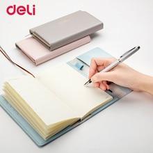 Deli 2018 moda portafoglio forma PU copertura in pelle notebook per ufficio affari fornitura qualità carino 3 colori organizzatore planner
