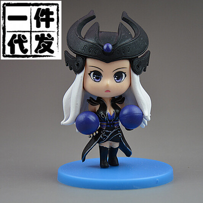 NEW hot 9cm The Dark Sovereign  Syndra  action figure toys collection doll Christmas gift no box new hot 23cm the frost archer ashe vayne action figure toys collection doll christmas gift with box