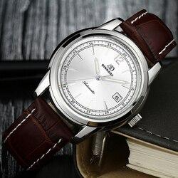 Automatyczne mężczyźni oglądać zasilania rezerwy BINKADA luksusowej marki góry prawdziwej skóry zegarki mechaniczne mężczyzna zegar relogio masculino w Zegarki mechaniczne od Zegarki na
