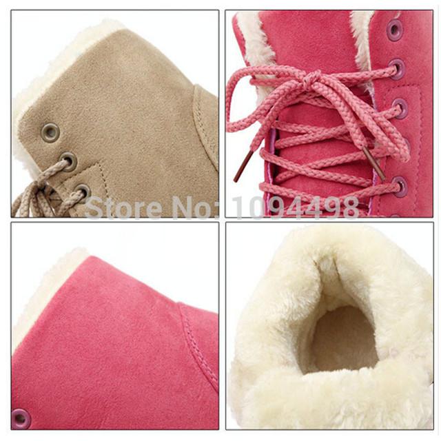 Women's Fur Ankle Snow Warm Winter Boots
