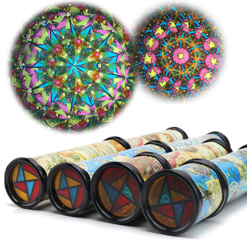 21cm Rotating Kaleidoscopes Rotation Prism Fancy Colorful World Baby Children <font><b>Educational</b></font> Toys for Autism Kids Parents Gift -25
