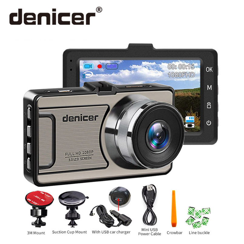 Denicer D710 Full HD 1080P Car Camera 3.0 Inch Screen Auto Vehicle Dvr 170 Degree Wide Angle Dash Cam With Cycle Recording new 4 0 inch screen car dvr car camera dual lens recording dash camera full hd 1080p video 170 degree wide angle dash cam oncam