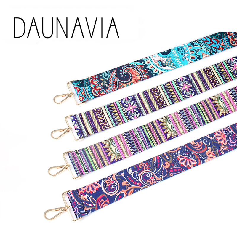 DAUNAVIA brand Fashion colorful shoulder strap for women messenger crossbody bags famous designer strap for women bags 110cm