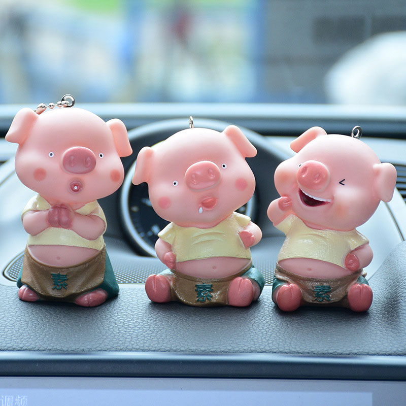 Porte-clés 3 petits cochons