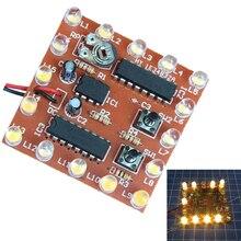 NE555 + 74HC595 16bit 16 источник света вода течет светодиодные модуль комплект Бег свет DIY Наборы сварки практика доска