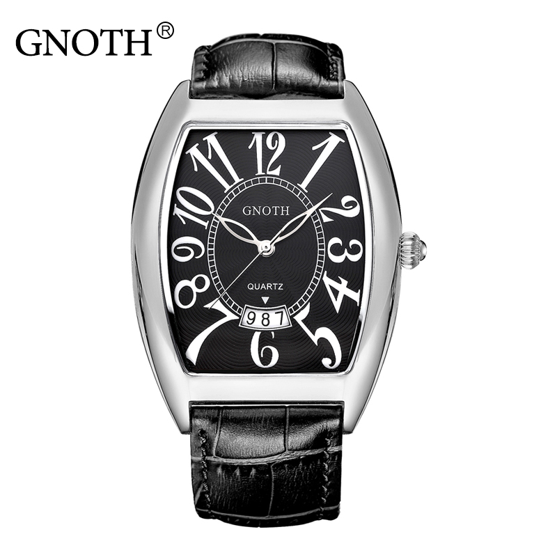 GNOTH Top Fashion Brand Women Watch  Female Hour Date Waterproof 30 m Quartz Wristwatch 2017 New Arrival Genuine Leather Clock gnoth top brand men watch leather quartz analog hour fashion sapphire clock male waterproof wristwatch hot sale 2017 new arrival