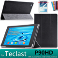 For Teclast P90HD Slim design high quality leather cover case for Teclast P90HD 8.9 inch tablet case + screen protectors+stylus