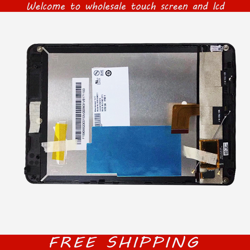 New 7.9 inch For Lenovo Miix3-830 miix 3 830 lcd display Touch Screen Panel Digitizer Glass with frame free shipping casual scoop neck long sleeve solid color t shirt dress for women