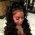 360 Pelucas Del Cordón Del Pelo Virginal Brasileño Suelta la Onda de Densidad 180% del cordón Del Pelo Humano Para Las Mujeres Negras 360 Del Frente Del Cordón Del Pelo Humano peluca