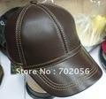 BONÉ de Beisebol de Couro de aveia Com Alça Ajustável Elegante Chapéu Orelha Quente 5 pçs/lote #2273