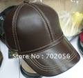 oat Leather Baseball CAP With Adjustable Strap Stylish Hat Ear Warmer 5pcs/lot #2273