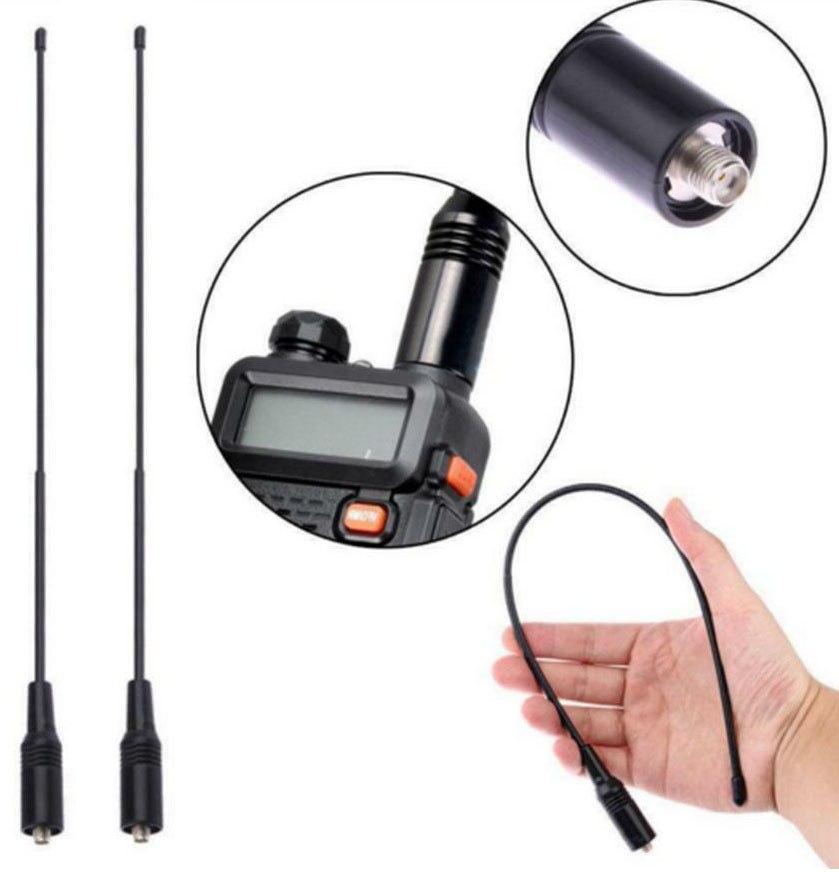 1PC NA-771 SMA-F SMA Female for Baofeng UV-5R UV-B5 UV-B6 BF-888S Two Way Radio Dual Band VHF/UHF 144/430MHz Antenna