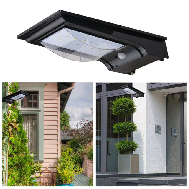 Excelvan outdoor solar powered motion activated led security wall excelvan outdoor solar powered motion activated led security wall light14 leds wireless auto on aloadofball Images