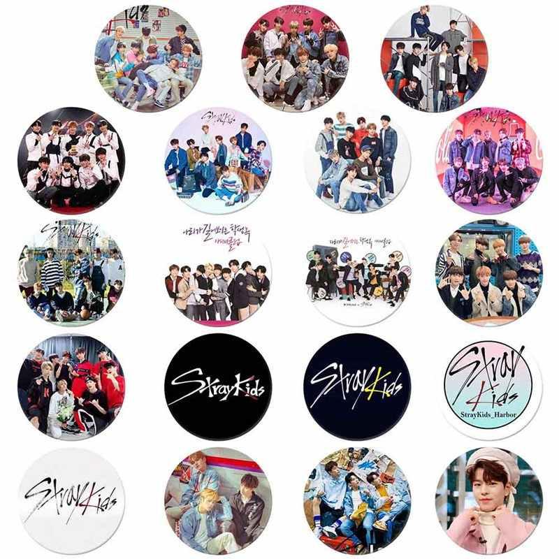 Kpop Liar Anak Round Lencana untuk Tas Topi Pakaian Fashion Dada Pin Bros Lencana