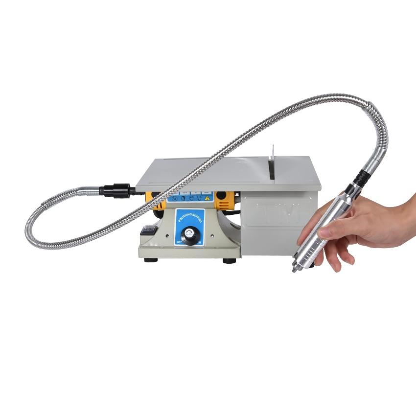 1pcs Multifunctional Mini Bench Lathe Machine Electric Grinder / Polisher / Drill / Saw Tool 350w 10000 R/Min
