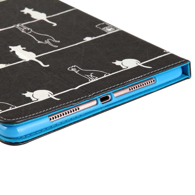 Чехол из искусственной кожи для iPad Air 2 Air 1, умный чехол с милыми кошками для Apple iPad Air, iPad Pro, чехол-подставка для планшета 9,7 дюйма с отделениями для карт