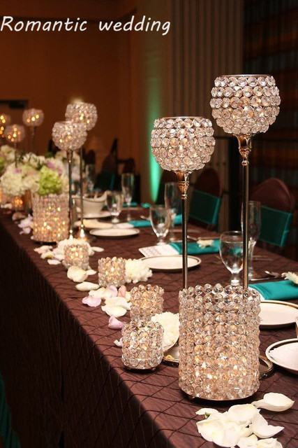 30pcslotcrystal Wedding Centerpiece Crystal Candle Holder 138