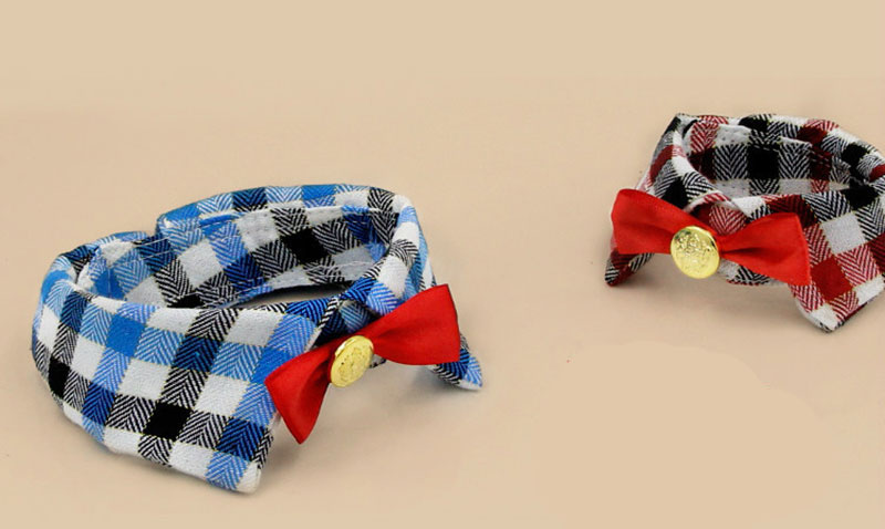 SYDZSW New Pet Products Puppy Dog Collar Bowtie Grace Plaid Pet Cat Dog Bowknot Collar Pet Clothing Accessories Dog Supplies S M L6