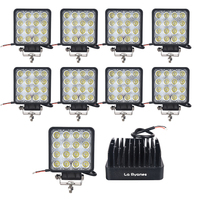 10X La Ryanes 48w Led Work Light Led 24V 12V Flood Spot Flood Led Tractor Work