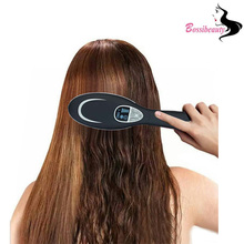 Buy online Professional Ionic Fast Dryer Hair Brush Flat corrugation for basal volume LED display Comb for straightening hair kilting