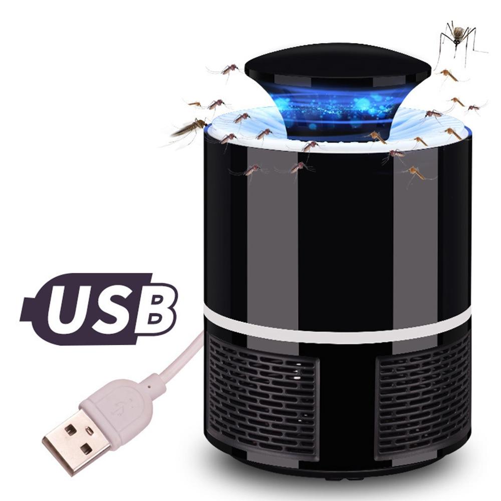 USB Lámpara electrónica del asesino del Mosquito del Control de plagas asesino del Mosquito eléctrico mosca trampa lámpara de luz LED insecto repelente Zapper