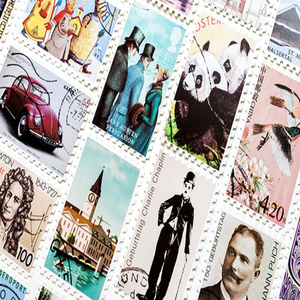 Image 4 - 4 paquets/lot Original en boîte cartes postales Vintage timbres créatifs bricolage cadeau danniversaire carte postale et pour carte de voeux