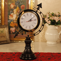 style retro globe clock clock watch the living room is not mute Taiwan Fashion Home Furnishing decorative clock display