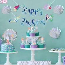 QIFU Dolphin Balloon Birthday Sea Animal Fish Mermaid Party Under The sea Balloons  Kids Tassel Fringe