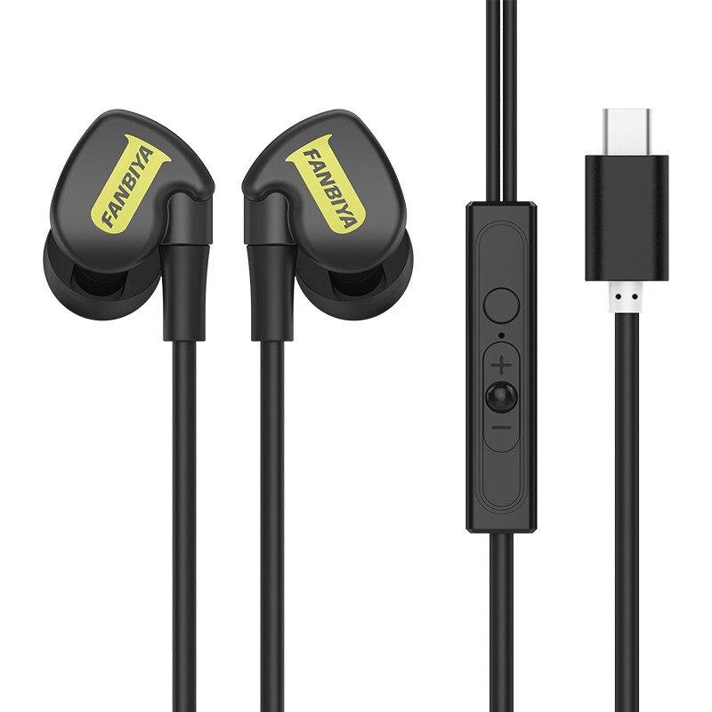 USB Type C Earphone Stereo Hi-Fi Ear Hook Sports Earbuds USB C Headset In-Ear with Micphone for Letv Xiaomi Oneplus Huawei