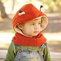 2017 Европа и соединенные Штаты детские теплые зимние шапки мультфильм животных фокс воротник цельный костюм наборы детские медведь hat